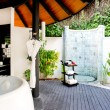 Stock Photo: Outside bath room. tropical resort