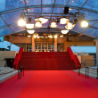 Stock Photo: Famous red carpet steps of Cannes film festival Palais