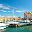 Harbor view of Saint-Tropez, french riviera — Stockfoto #13767206