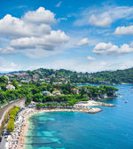 View of luxury resort and bay of Cote d — Stock Photo