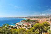 View of mediterranean resort, Nice, France. — Stock Photo