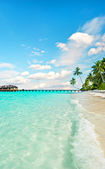 Paradise island landscape. crystal turquoise water and fantastic — Stock Photo