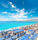 View of beach resort, Nice, France. 08. AUGUST 2011 — Stock Photo