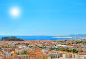 View of mediterranean resort, Nice, France — Stock Photo