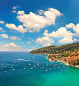 View of luxury resort and bay of Cote d'Azur — Stock Photo