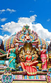 Hindu temple in Singapore over beautiful blue sky — Stock Photo