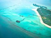 Paradise tropic island. aerial view — Stock Photo