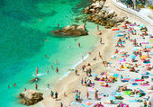 Beach of the Cote d'Azur, by Nice, France — Stock Photo