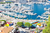 Arial view over Monaco harbour. mediterranean landscape — Stock Photo