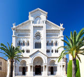 Facade of Saint Nicholas Cathedral in Monaco — Stock Photo