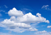 White clouds. perfect blue sky — Stock Photo