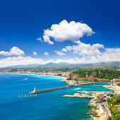 View of mediterranean resort, Nice, Cote d — Stockfoto