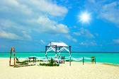 Tropical wedding location on the beach — Foto de Stock