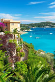 Beautiful mediterranean landscape, view of luxury resort — Stock Photo