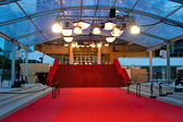The famous red carpet steps of Cannes film festival Palais — Stock Photo