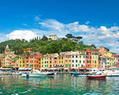Famous Portofino village on Ligurian coast — Stock Photo