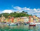 Famosa aldeia de portofino, na costa da ligúria — Foto Stock