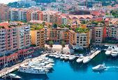 Fontvieille, new district of Monaco — Stock Photo