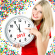 New year 2013. five to twelve — Stok fotoğraf