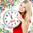 Foto de Stock  : New year 2013. five to twelve