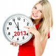 Stock Photo: New year 2013. five to twelve