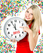 New year 2013. five to twelve — Foto Stock