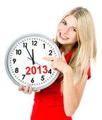 New year 2013. five to twelve — Stock Photo