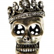 Queen or king skull with crown - Stock Photo