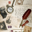 Stock Photo: Vintage background with old photos
