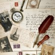 Vintage background with old photos — Stock Photo #13994889