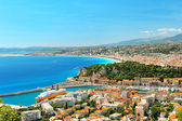 Panoramic view of Nice, mediterranean resort — Stock Photo