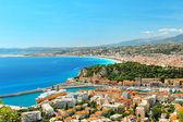 Panoramic view of Nice, mediterranean resort — Stock Photo