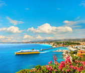 View of mediterranean resort Nice, French riviera — Stock Photo