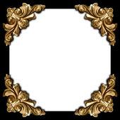 Zlaté prvky vyřezávaný rám náměstí — Stock fotografie