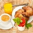 Постер, плакат: Breakfast with coffee and orange juice