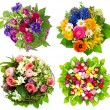 Beautiful colorful fresh flowers bouquet — Stock Photo #14006448