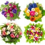 Beautiful colorful fresh flowers bouquet — Stock Photo