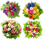 Beautiful colorful fresh flowers bouquet — Foto de Stock