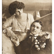 Young romantic couple. old sepia picture — Stock Photo #14075214