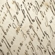 Stock Photo: Old manuscript with vintage handwriting