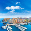 Panoramic view of marina in Monaco — Stock Photo #14078156