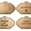 Halloween stickers and labels vintage style — Stock Photo