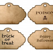 Stock Photo: Halloween stickers and labels vintage style