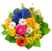 Beautiful bouquet of assorted flowers — Stock Photo
