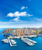 Panoramic view of marina in Monaco — Stock Photo