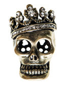 Queen or king skull with crown — Stock Photo