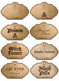 Halloween labels grungy vintage style — Stock Photo