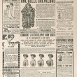 Stock Photo: Newspaper page with antique advertisement. france 1919