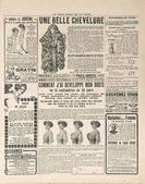 Newspaper page with antique advertisement. france 1919 — Stock Photo