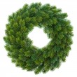 Royalty-Free Stock Photo: Green christmas wreath isolated on white
